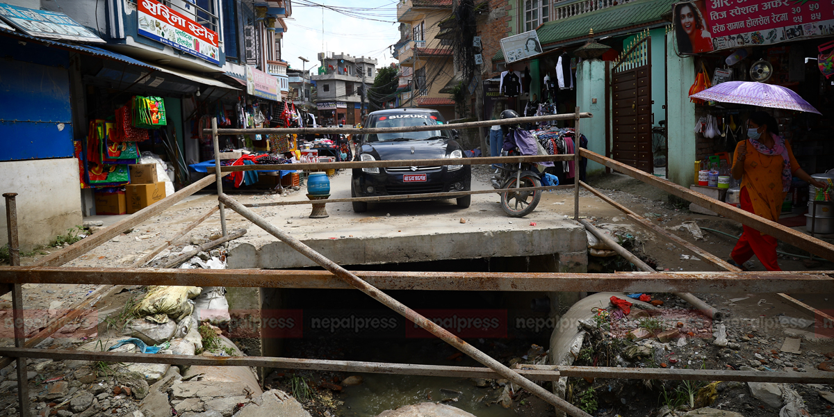 10yo child missing after falling into open drainage in Kapan found dead in Lalitpur