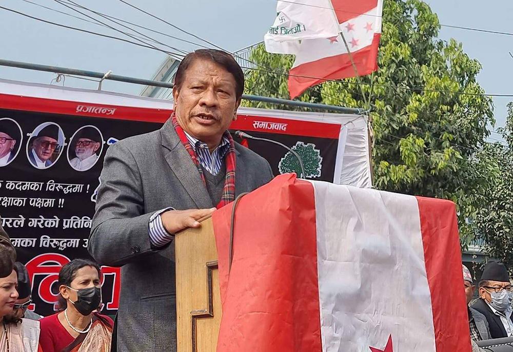 Prakash Man Singh says he will contest for Nepali Congress president
