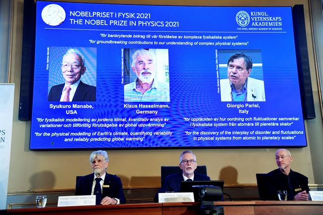 Trio win physics Nobel for work deciphering chaotic climate