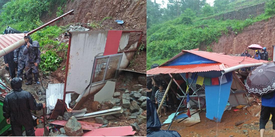 2 children die as landslide buries house in Dharan