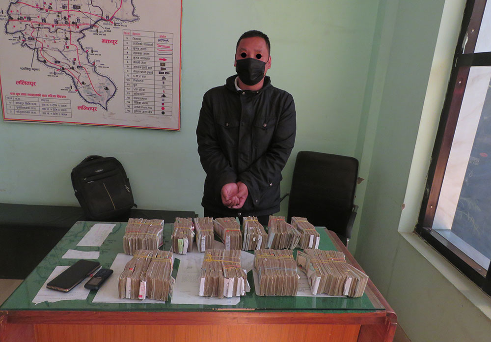 One held with 8 million rupees undeclared money from Bhaktapur