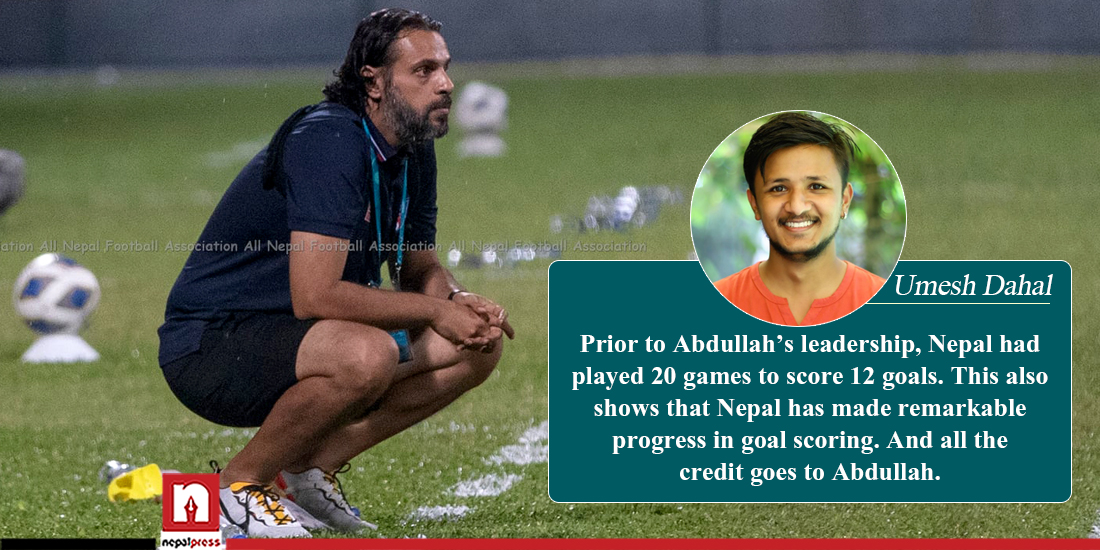 Nepal made improvement in scoring after Almutairi takes leadership of nat'l football team