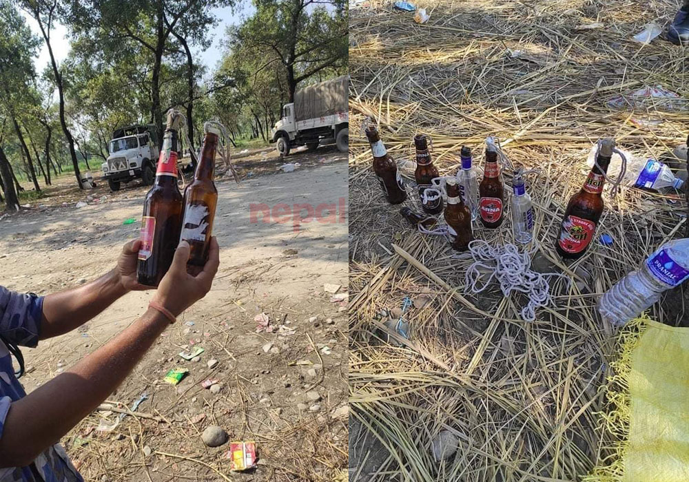 Police recovered dozens of petrol bombs from Motipur incident site