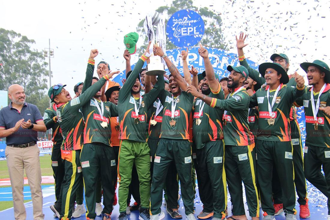 Chitwan Tigers thrash Pokhara Rhinos to claim EPL title